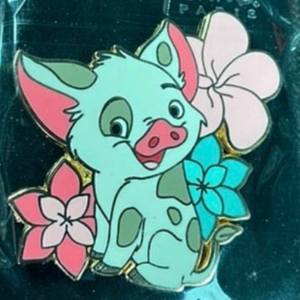 Pua with flowers pin