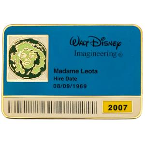 Madame Leota - Haunted Mansion - ID Badge Series 2007 pin