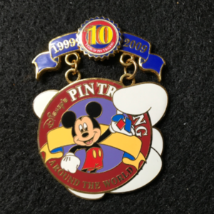 Disney Pin Trading 10th Anniversary Tribute Collection Mickey  pin