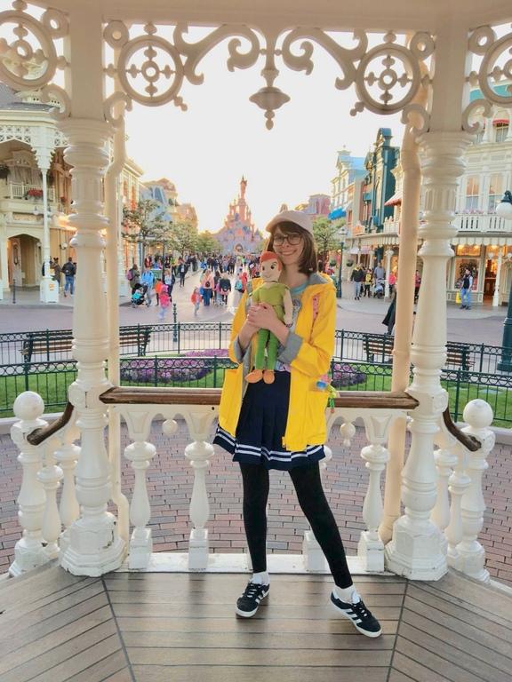 Emily (and Peter!) at Disneyland Paris