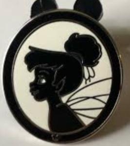 Tinker Bell - Hidden Mickey Silhouette pin