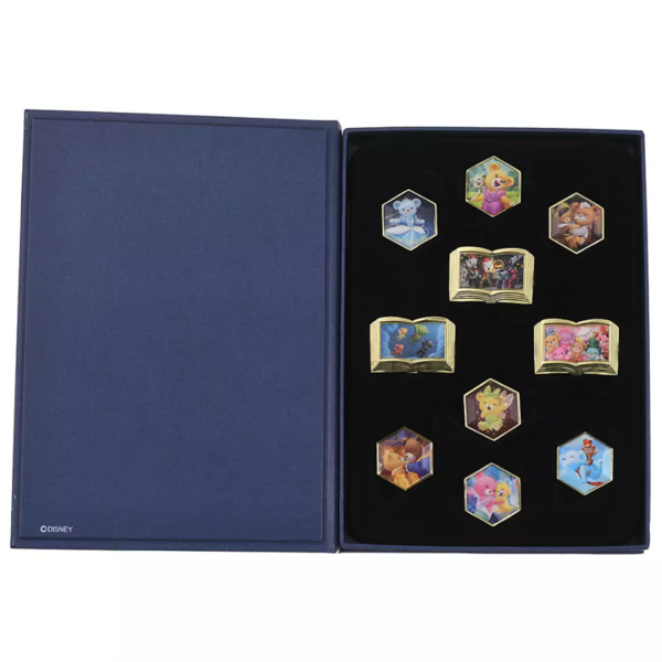 Glanzen Rose and Fruend - UniBEARsity Pin Badge Set Crystal Art UniBEARsity 10th ANNIVERSARY pin