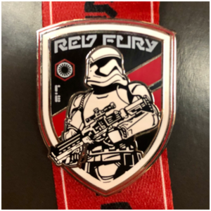 Red fury Stormtrooper pin
