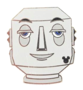 Butler Robot - Hidden Mickey Past Attractions pin