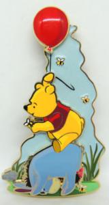 Aloft with Winnie and Eeyore pin