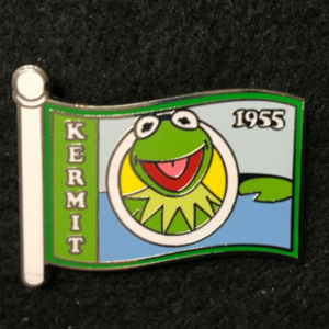 WDW Character Flag Mystery Kermit the Frog pin