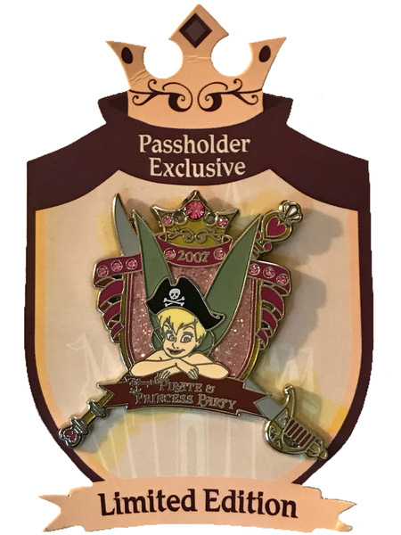 broche WDW - Pirate and Princess Party 2007 - Annual Passholder Exclusive - Tinker Bell Crest