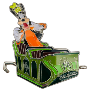 Goofy in ride vehicle - Mystic Point Grand Opening 2013 pin