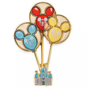 Mickey Mouse balloons holding up castle pin