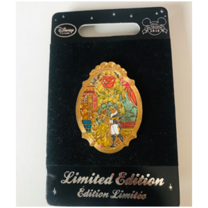 Beauty & The Beast - Stained Glass Window  pin