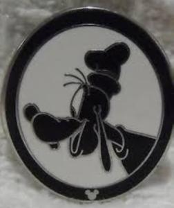 Goofy - Hidden Mickey Silhouette pin