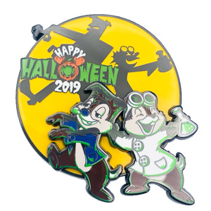 Chip and Dale Happy Halloween 2019 pin