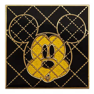 Gold and black shocked Mickey pin
