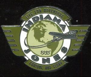 Indiana Jones Pilot Wings pin