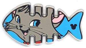 Berlioz - Hidden Mickey Fishbone pin