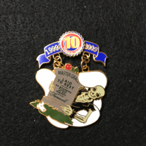 Pin Trading 10th Anniversary Tribute Master Gracey pin