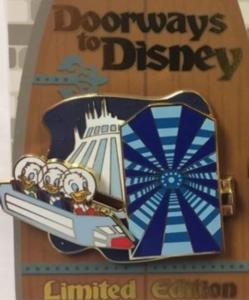 Space Mountain - Doorways to Disney pin