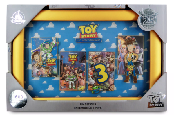 Toy Story poster 25th Anniversary pin