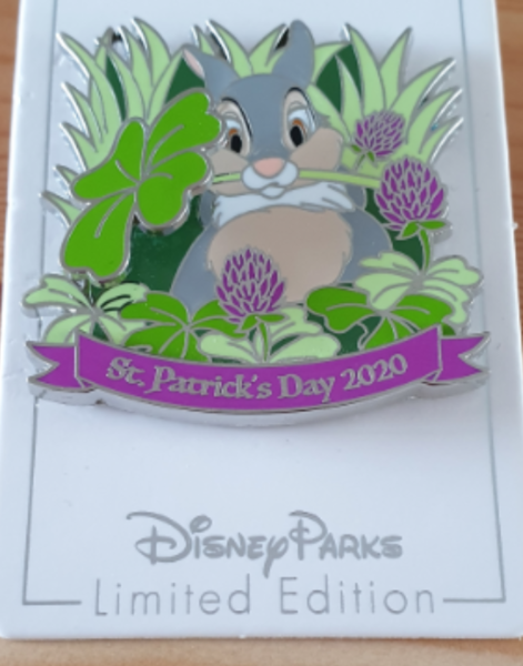 Thumper St Patrick's Day 2020 pin