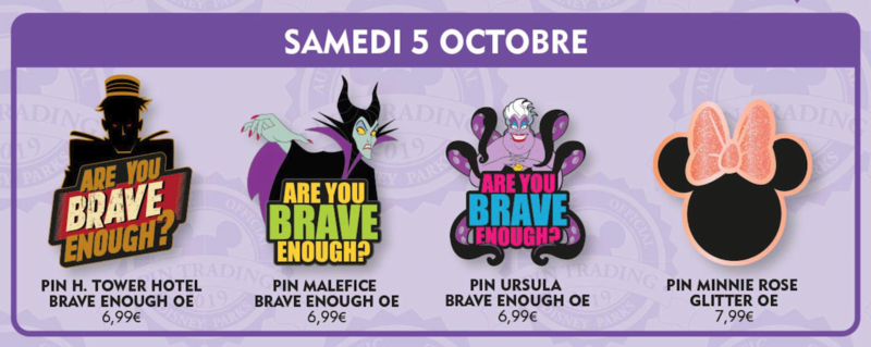 Disneyland Paris October 2019 pin releases