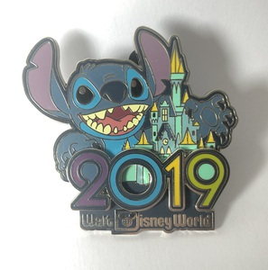 Stitch celebrating 2019 pin