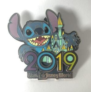 Stitch celebrating 2019 pin
