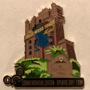 WDW Pin of the Month - August 2000 - Tower of Terror pin