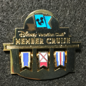 DCL Disney Vacation Club Member Naudical Flags pin