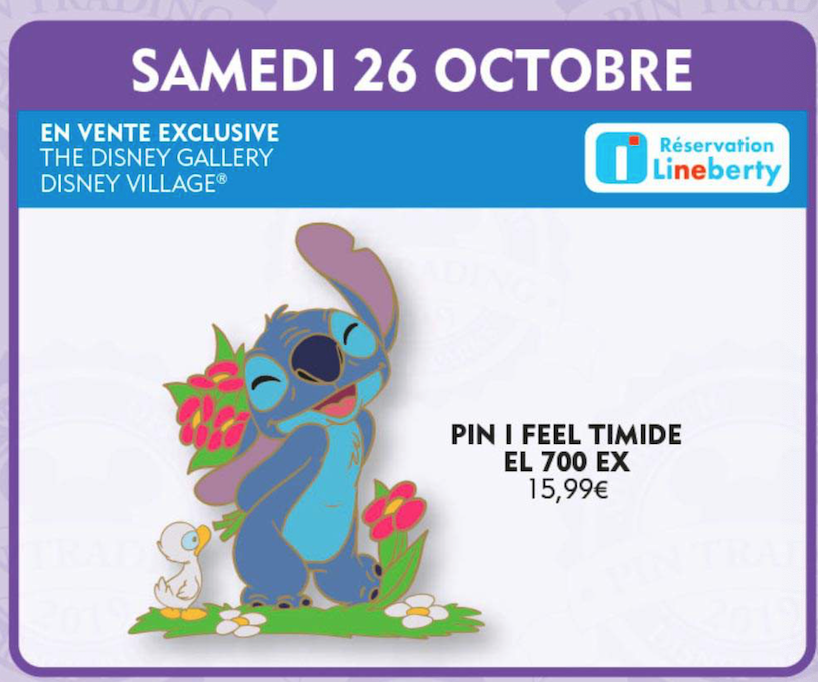 "26th October Stitch ""I feel"" pin release"