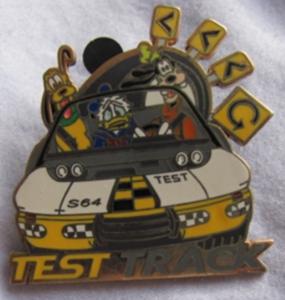 Test Track - Walt Disney World Mystery Attractions pin