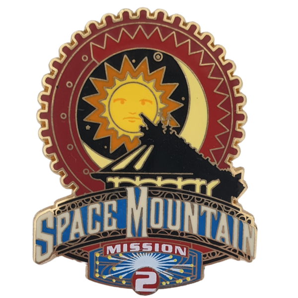 Space Mountain Mission 2 - Disneyland Paris Attractions Series pin
