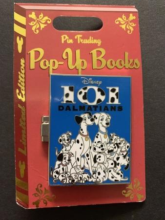 101 Dalmatians pop up book pin