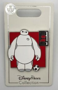 Baymax with Soccer Ball pin
