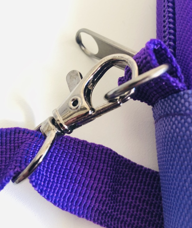 A close up of the adjustable strap