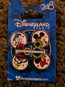 2018 Disneyland Paris Spinner pin