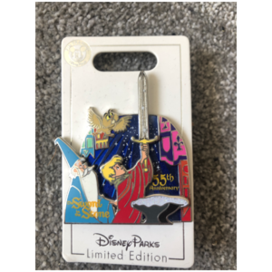 Sword and stone 55th anniversary  pin