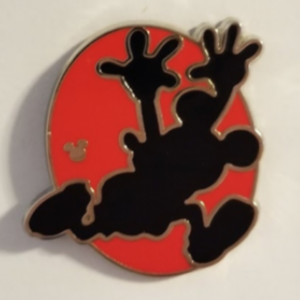 Hidden Mickey 2018 - Red Silhouette - Mickey Running pin