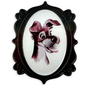 Tramp portrait - 65th anniversary pin