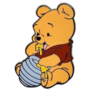 Baby Winnie the Pooh eating honey pin