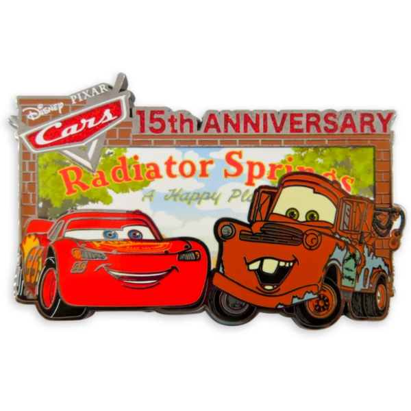 Cars 15th Anniversary Pin – Limited Release - Tow Mater and Lightning McQueen pin
