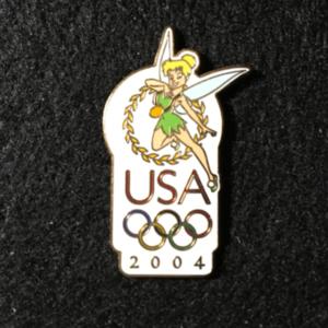 USA 2004 Olympic logo Tinker Bell pin