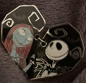 Jack and Sally Link Heart pin