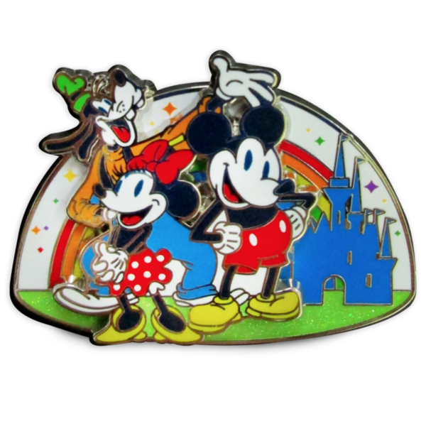 Mickey Mouse and Friends Pin – Rainbow Disney Collection引脚
