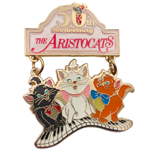 Aristokittens on piano keys - Aristocats 50th Anniversary pin