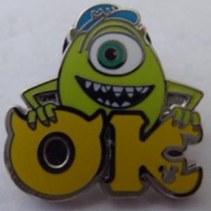 Mike - Monster University Greek Letters pin