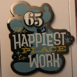 The Happiest Place to Work  65th anniversary  pin