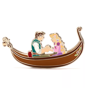 Rapunzel and Flynn in boat - Disney Store Tangled pin set pin