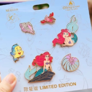 The Little Mermaid 30th Anniversary Shanghai Disneyland Pin Set pin