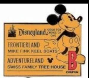 Disneyland B Ticket - Hidden Mickey pin