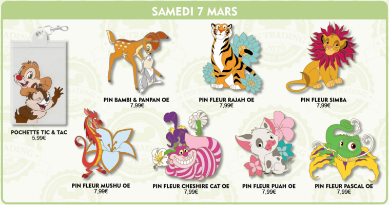 Disneyland Paris March 2020 pin releases